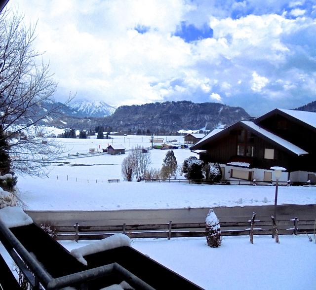 'Breakfast in Bavaria' A snowy wonderland to greet us for breakfast!